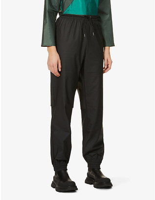 Rains Tapered mid-rise shell trousers