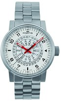 Fortis Men's 623.10.52 M Spacematic Classic White-Red Analog Display Automatic Self Wind Silver Watch