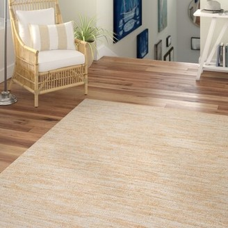 Beachcrest Home Trumbull Hand-Woven Silver Area Rug