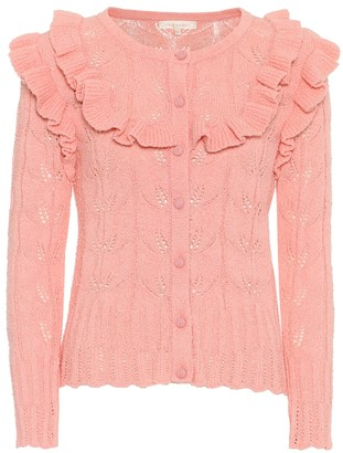 LoveShackFancy Warren Ruffle cotton cardigan
