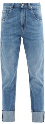 Brunello Cucinelli Turn-up Straight-leg Jeans - Denim