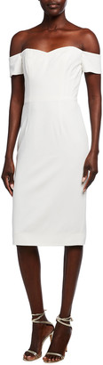 Dress the Population Bailey Off-the-Shoulder Fitted Dress