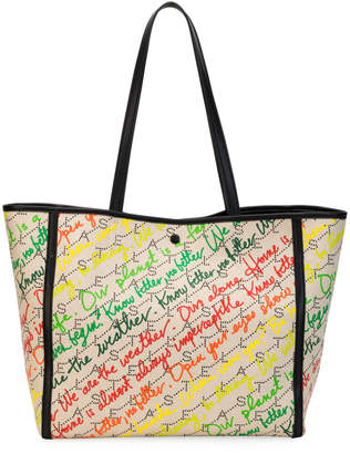 Stella McCartney Small Eco Monogram Slogans Tote Bag