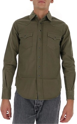 Saint Laurent Distressed Classic Western Shirt