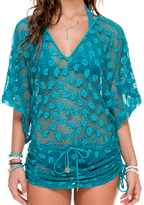 Luli Fama Cabana V-Neck Dress In Exuma (L503976)