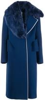 Fendi fox-fur collar coat
