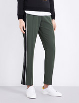Kenzo Striped-panel relaxed-fit crpe jogging bottoms