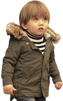 EGELEXY Toddler Baby Boy Winter Warm Jacket Gown Kids Hoodie Outwears Coat Grey