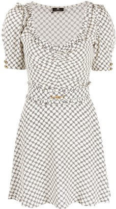 Elisabetta Franchi Graphic-Print Mini Dress