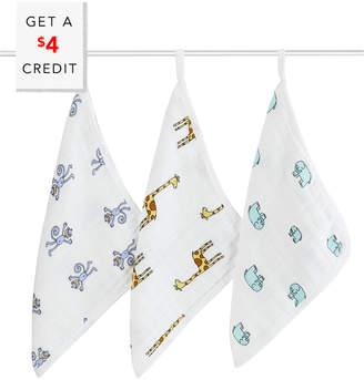 Aden Anais Aden + Anais 3Pk Washcloth Set With $4 Credit