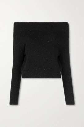 Altuzarra Tomoko Off-the-shoulder Cashmere Sweater - Black