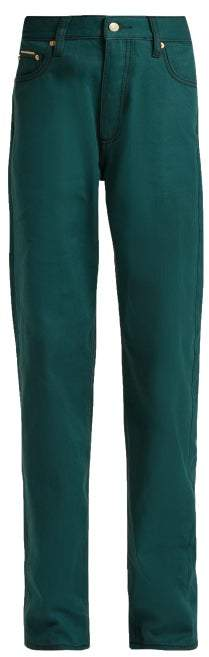 Eytys Benz Twill Jeans - Womens - Dark Green