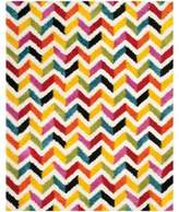 Safavieh Kids® 8-Foot 4-Inch x 12-Foot Zigzag Shag Area Rug in Ivory/Multi