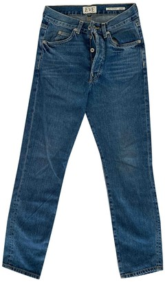 Eve Denim Blue Cotton Jeans