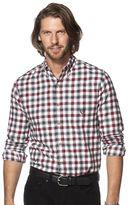 Chaps Men's Flannel Classic-Fit Open Check Button-Down Shirt