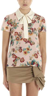 RED Valentino flower & Butterfly Blouse