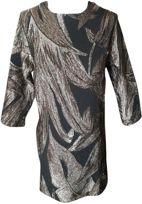 Nineminutes Gold Cotton Dress for Women