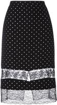 Givenchy star embroidered lace panel skirt - women - Silk/Polyamide/Polyester/Acetate - 42