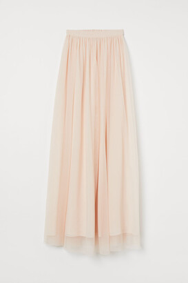 H&M Tulle Maxi Skirt - Pink