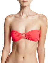 Milly Lanai Italian Solid Bandeau Swim Top, Pink