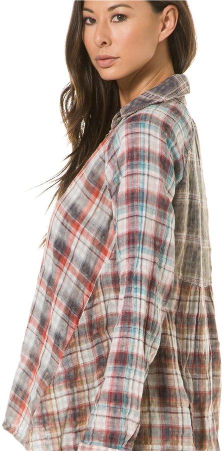 Artisan de Luxe Charlize Plaid Mix Shirt