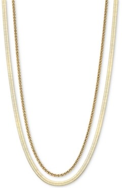 "AVA NADRI Double Chain Layered Necklace, 16"" + 2"" extender"