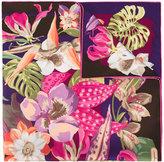 Salvatore Ferragamo Hibiscus flower print scarf - women - Silk - One Size