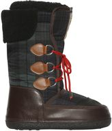 DSQUARED2 Plaid Nylon Snow Boots