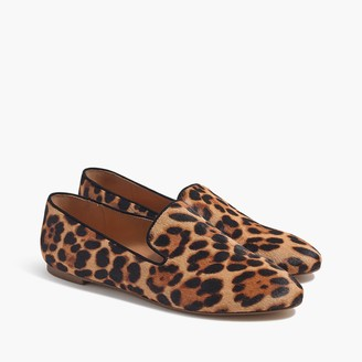 J.Crew Calf hair smoking loafers
