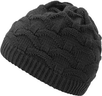 4sold Wave Womens Girls Winter Hat Wool Knitted Beanie Fleece Cap SKI Snowboard Hats Bobble (Gray)