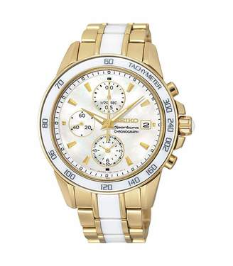 Seiko Womens Chronograph Quartz Watch with Stainless Steel Strap SNDX02P1