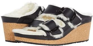 Birkenstock Nora Big Buckle Shearling (Black/Natural) Shoes