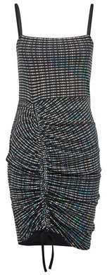 Dorothy Perkins Womens Lola Skye Multi Colour Ruched Mini Bodycon Dress