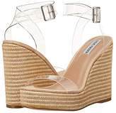 Steve Madden Maize Wedge Sandal (Clear) Women's Shoes