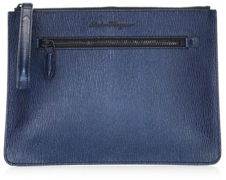 Salvatore Ferragamo Revival Leather Document Holder