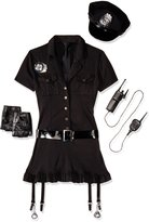 Leg Avenue Women's 6 Piece Dirty Cop Costume