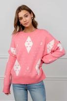 J.ING Heart of Diamond Pink Convertible Sweater