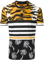 Dolce & Gabbana multi print T-shirt - men - Cotton - 46