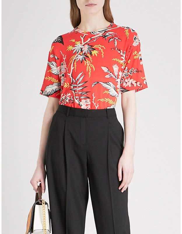 Diane von Furstenberg Floral-print jersey T-shirt