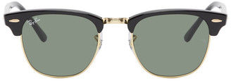 Ray-Ban Black and Gold Clubmaster Classic Sunglasses