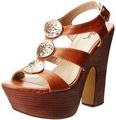 Luichiny Women's Golden Sky Platform Sandal