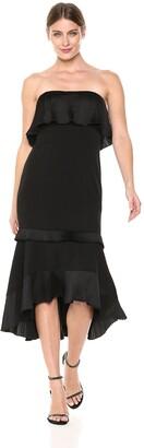 Aidan Mattox Aidan Women's Strapless high Low Dress