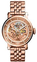 Fossil Women's ME3065 Original Boyfriend Automatic Rose Tone Stainless Steel Watch with Link Bracelet