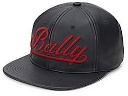 Bally Men's Leather Logo Baseball Cap