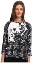 Tibi Floral Fields Easy Sweatshirt