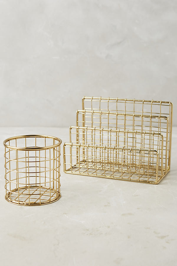 Sutton Desk Collection By Anthropologie in Gold Size S