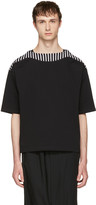 SASQUATCHfabrix. Black Boatneck Cut Sew T-Shirt