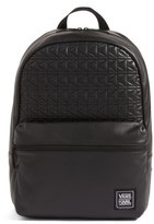 Vans X Karl Lagerfeld Quilted Leather Backpack - Black
