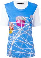 Love Moschino fairground print T-shirt - women - Cotton - 40