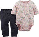 Carter's Bodysuit and Jeggings Set - Baby Girls newborn-24m